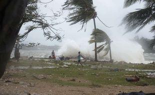 Après le passage du cyclone Pam à Port Vila, au Vanuatu, le 14 mars 2015.