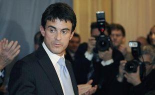 Manuel Valls, fin novembre 2008 à Paris.