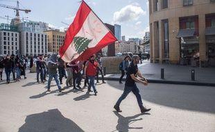 Une manifestation anti-corruption dans les rues de Beyrouth, le 7 mars 2020.