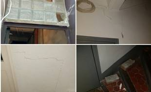 Un locataire a pris de nombreuses photos de l'intérieur du 65 avant l'effondrement.