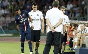 Thiago Silva après sa blessure, le 11 août 2014