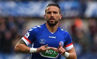 Anthony Gonçalves a planté son premier but avec le Racing club de Strasbourg contre Dijon (3-2 a.p.) en Coupe de France en début d'année 2018.
