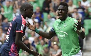 Moustapha Bayal Sall, ici face à Bordeaux (1-1) le 15 août, a bien failli ne pas connaître de 10e saison dans le Forez.