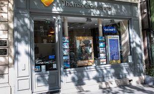 Une agence voyage de Thomas Cook à Paris.