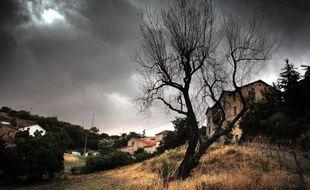 Un orage se prépare dans les environs de Lyon. Illustration.