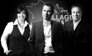 """Carinne TEYSSANDIER ; Fabien LECOEUVRE ; Laurent LUYAT de """"Village Départ"""" sur France 3"""