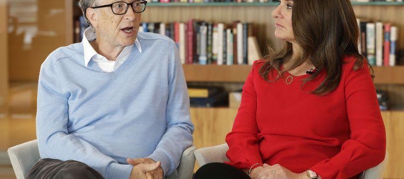 Bill et Mélinda Gates, le 1er février 2018 lors d'une interview à Associated Press aux États-Unis.