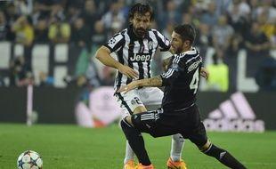Andrea Pirlo et la Juve ont pris un léger avantage en battant le Real (2-1) en demi-finale aller de la Ligue des champions, le 5 mai 2015.
