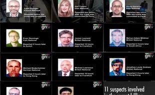 Les onze personnes suspectées du meurtre de Mahmoud al-Mabbouh, un cadre du Hamas assassiné à Dubaï le 20 janvier 2010.