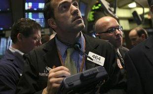 Un trader à Wall Street le 27 octobre 2008