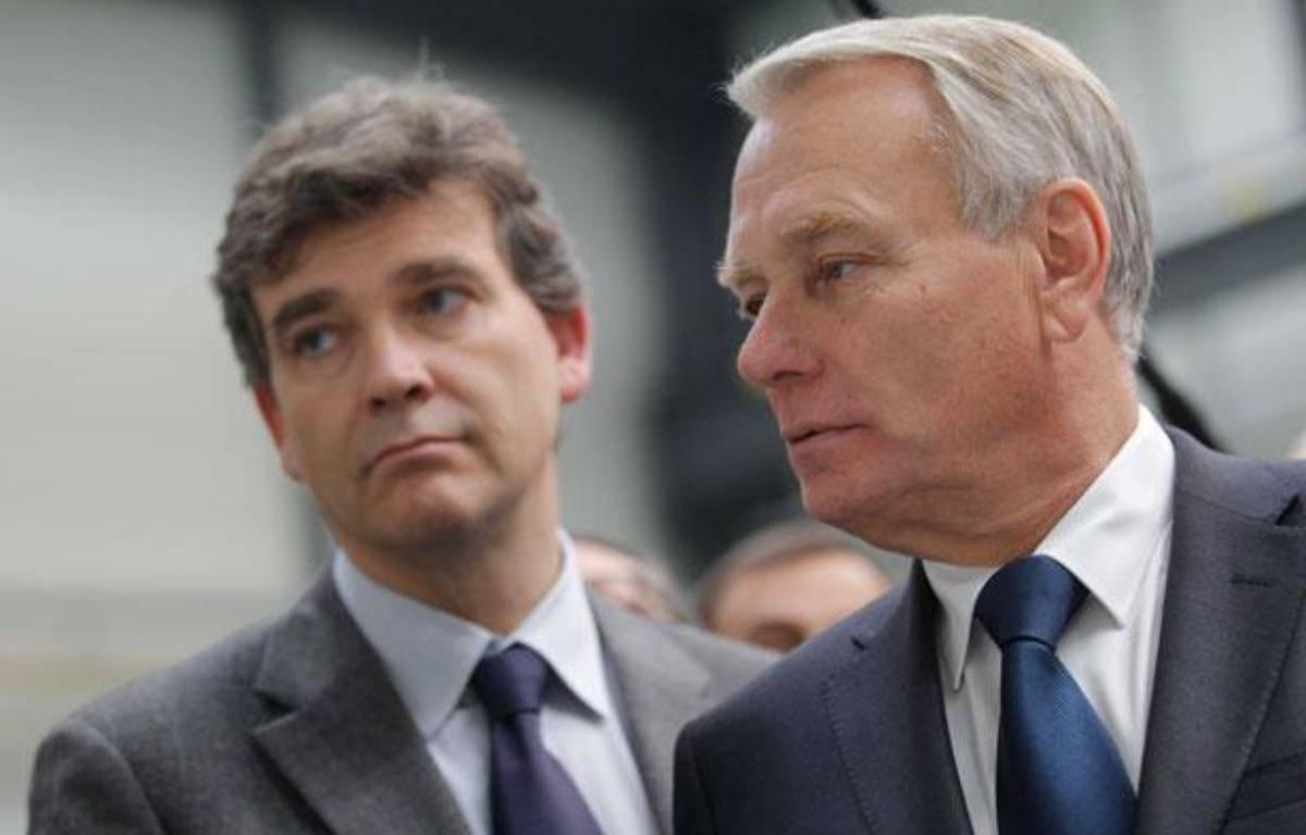 Jean Marc Ayrault, premier ministre et Arnaud Montebourg, ministre du redressement productifle 15 octobre 2012 – ELSNER FABRICE/20 MINUTES/SIPA