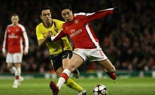 Le Français d'Arsenal, Samir Nasri, lors d'un quart de finale aller de Ligue des champions face à Barcelone, le 31 mars 2010.