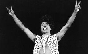 Le chanteur Little Richard au stade de Wembley en 1972