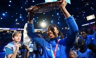 Siraba Dembélé, après la victoire en finale de l'Euro 2018.