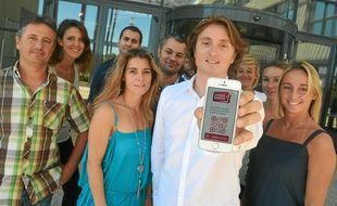 L'équipe du Chèque Santé, présente son application smartphone.