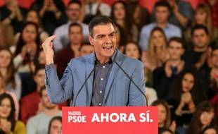 Pedro Sanchez, le socialiste président du gouvernement espagnol sortant, favori pour remporter les élections.