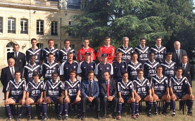 L'équipe des Girondins de Bordeaux, championne de France en 1999.