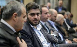 Le négociateur en chef de l'opposition syrienne, Mohammed Allouche, à Genève le 19 avril 2016