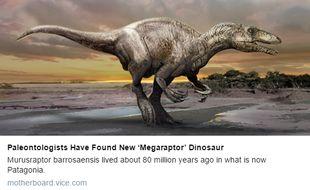 Une nouvelle espèce de dinosaure carnivore datant de 80 millions d'années a été découverte en Argentine. Cela devrait contribuer à déterminer les origines et l'évolution des mégaraptoriens dont il est le premier spécimen découvert.