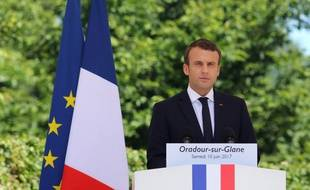 Emmanuel Macron le 10 juin 2017 à Oradour-sur-Glane.