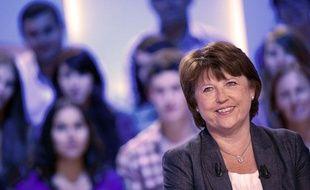 Martine Aubry, sur le plateau du Grand Journal, le 3 septembre 2011.