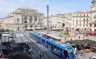Le tramway à Montpellier.