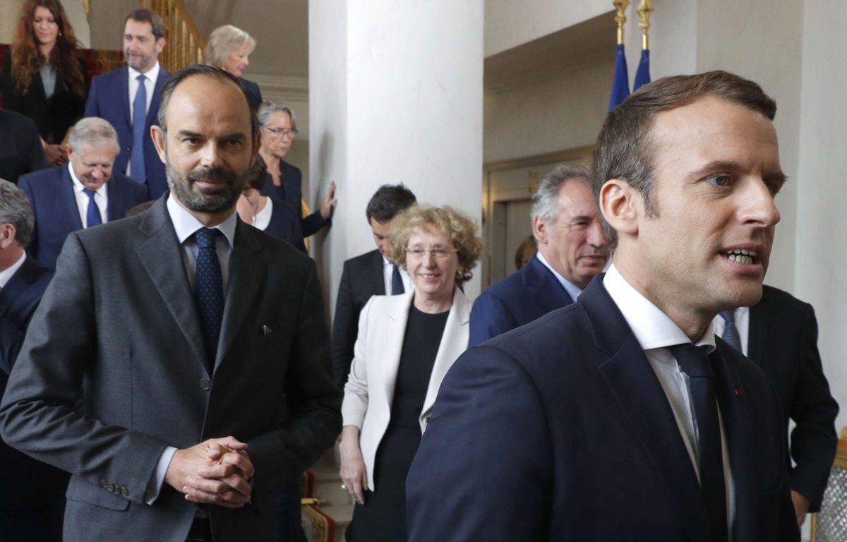 Emmanuel Macron et Edouard Philippe, à l'Elysée le 18 mai 2017. Philippe Wojazer, Pool via AP – Philippe Wojazer/AP/SIPA