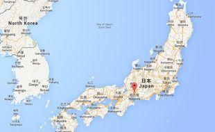 Capture d'écran Google map de la ville de Nagoya, au Japon