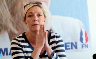La présidente du Front national, Marine Le Pen, le 25 mai 2011, à Lille.