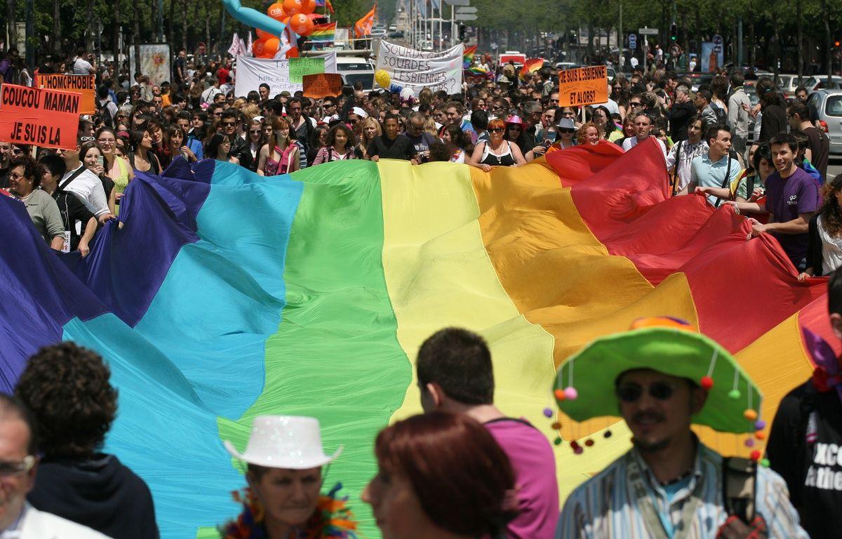 Toulouse le 14062008  Gay pride a Toulouse. Marche des fiertes des gays lesbiennes et transsexuels. – A.GELEBART/20MINUTES