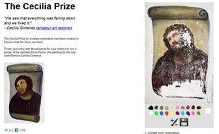 Un site propose de restaurer un portrait du Christ, après la médiatisation de l'histoire de Cecilia Gimenez, auteure de la pire restauration d'oeuvre d'art de l'histoire.