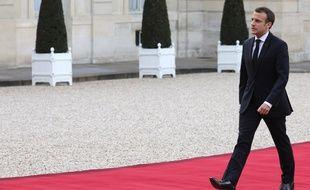 Emmanuel Macron à l'Elysée, le 10 avril 2018.