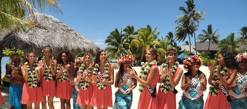 Photo prise lors du voyage des Miss à Papeete en novembre 2019.