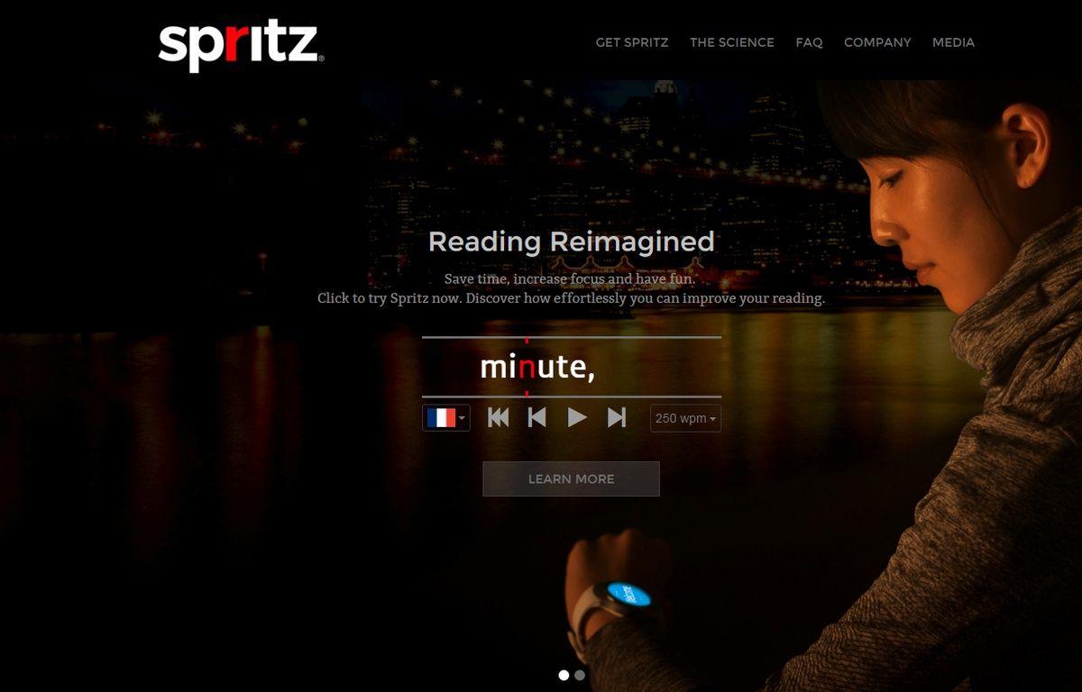 Spritz est la référence de la lecture rapide sur internet. – Spritz