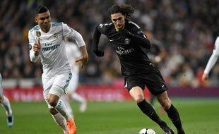 Adrien Rabiot a ouvert le score pour le PSG face au Real Madrid, mercredi 14 février.