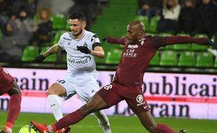 Rémy Cabella, ici lors de la lourde défaite (3-0) ce mercredi en Lorraine.