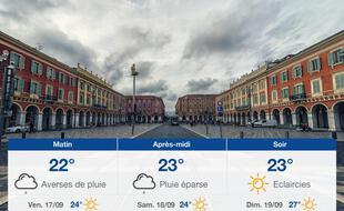 Météo Nice: Prévisions du jeudi 16 septembre 2021