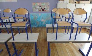 Strasbourg le 0309 2012. Classe dans une école primaire primaire.