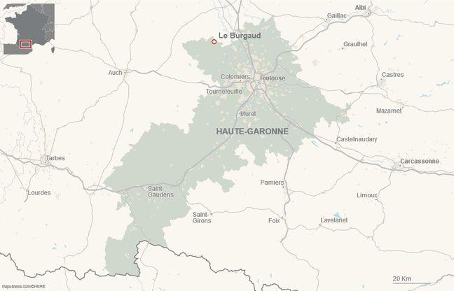 Le Burgaud, village d'environ 950 habitants dans le nord-ouest de la Haute-Garonne.