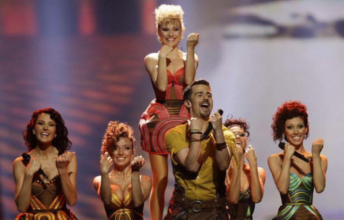 Le candidat moldave Pasha Parfeny, lors des semi-finales de l'Eurovision le 22 mai 2012. – Sergey Ponomarev/AP/SIPA