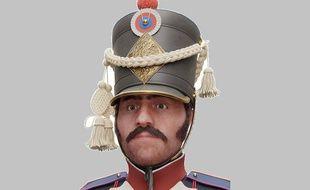 Des scientifiques français et russes ont reconstitué le visage d'un soldat napoléonien gravement blessé pendant la campagne de Russie en 1812.