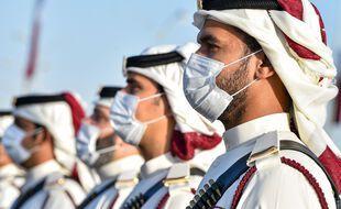 La garde militaire à Doha, illustration