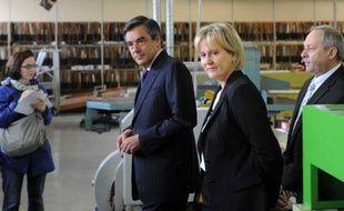 François Fillon et Nadine Morano, le 13 juin 2012 à Toul, en Meurthe-et-Moselle.