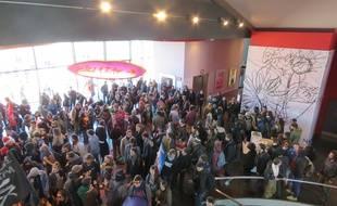 Les manifestants ont investi les le cinéma Gaumont de Rennes, le 1er mai lors de la manifestation contre la loi Travail.