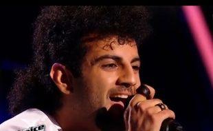 Araz, le toulousain d'adoption, candidat de The Voice 2016, lors de son passage dans l'émission du 6 février 2016.