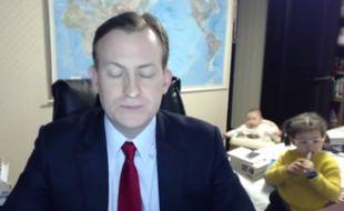Un expert BBC interrompu en plein live par ses enfants