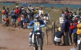 Le motard portugais Helder Rodrigues sur le Dakar