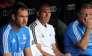 L'entraîneur adjoint du Real Madrid Zinédine Zidane.