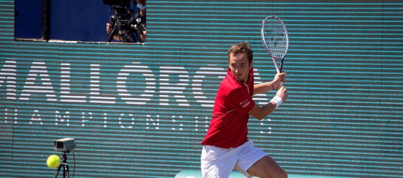 Daniil Medvedev lors d'un match du tournoi de Majorque, le 24 juin 2021.