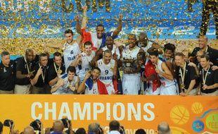 L'équipe de France championne d'Europe, le 22 septembre 2013